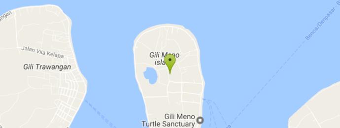 Остров Гили Мено на карте