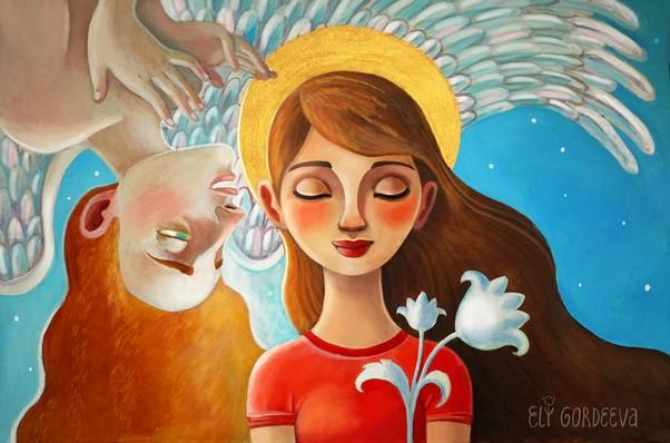 Ангел и Дева Мария