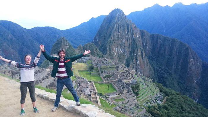 Лена и Никита в Мачу-Пикчу - Перу