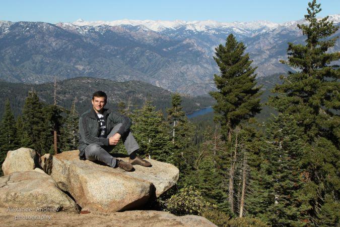 Александр Андреев в национальном парке Йосемити