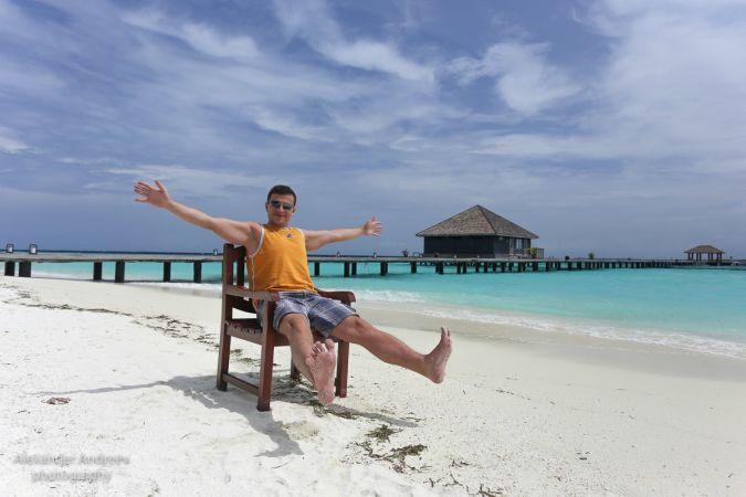 Александр Андреев на Мальдивах