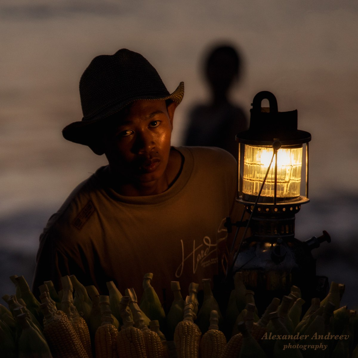 Продавец кукурузы на Бали