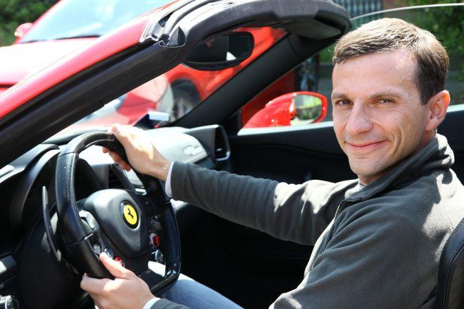 Александр Андреев за рулем