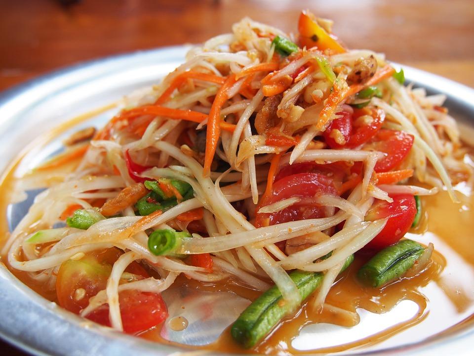 Папайя салат
