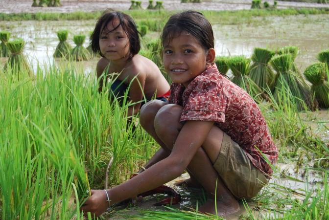 Дети в Камбодже