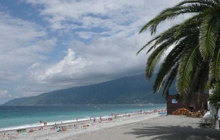 Пляж Абхазии