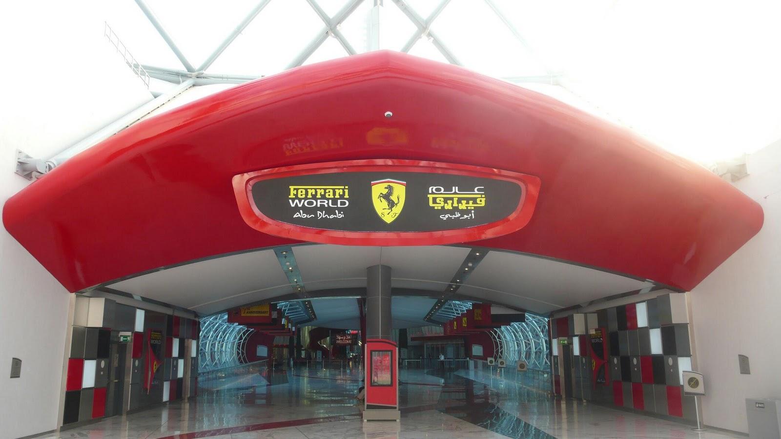 Ferrari World, вход