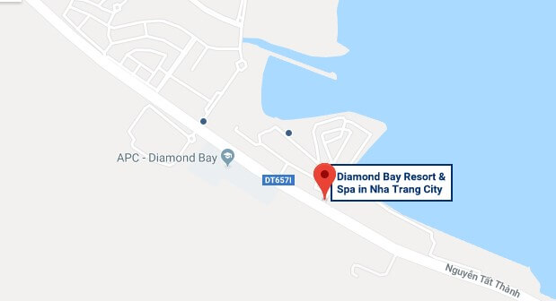 Отель Даймонд Бей Резорт на карте