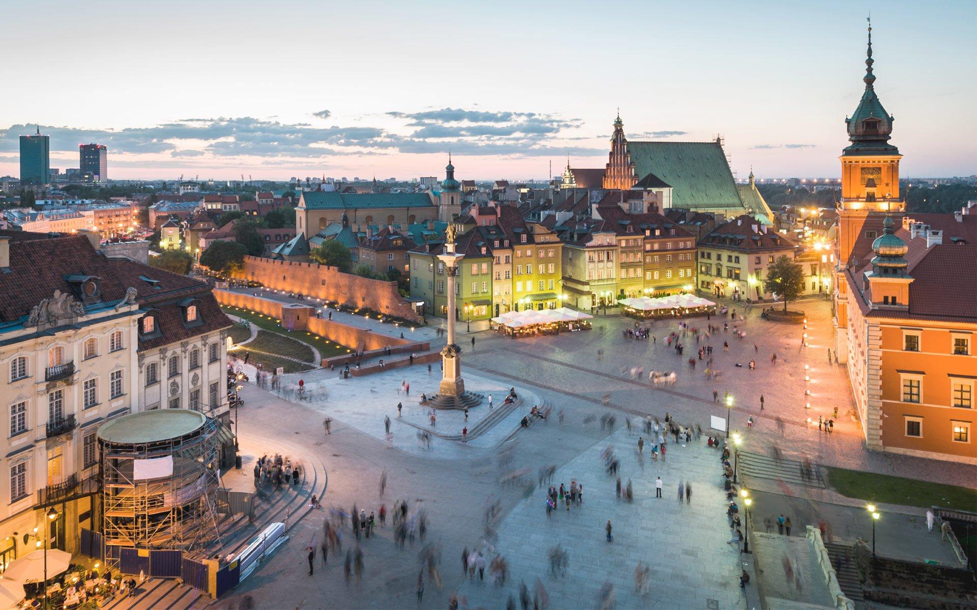 Площадь в городе Польши