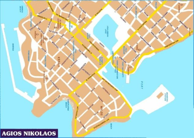Карта города Агиос Николаос