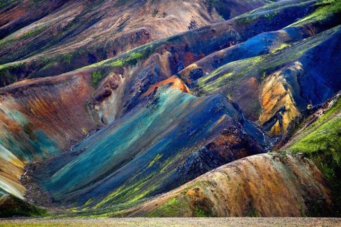 долина разноцветных гор Ландманналаугар