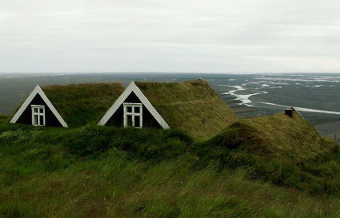 Город-порт Хебн в Исландии