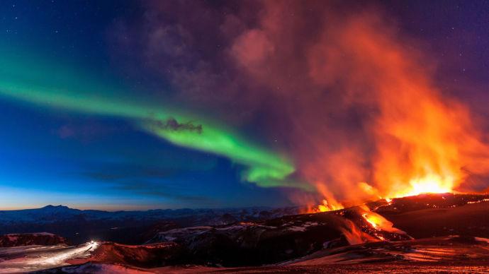 Вулкан Катла в Исландии