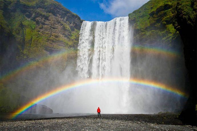 фото водопада Скоугафосс