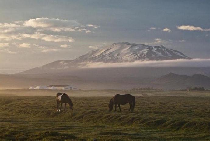 Вулкан Гекла в Исландии