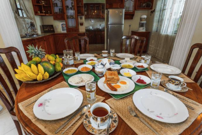 Завтрак в доме мисс Шри Ланка
