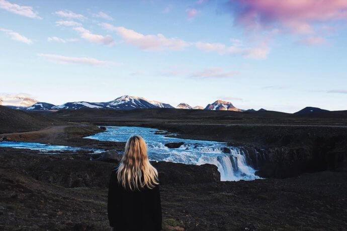 Остановились где-то в Исландии