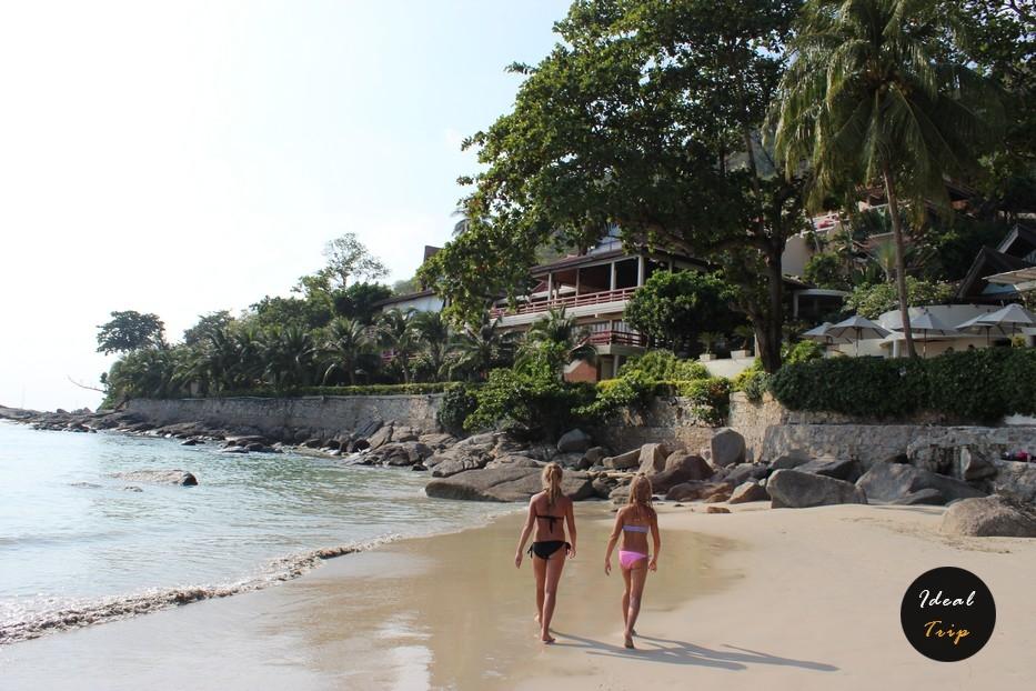 Девушки на пляже Най-Харн