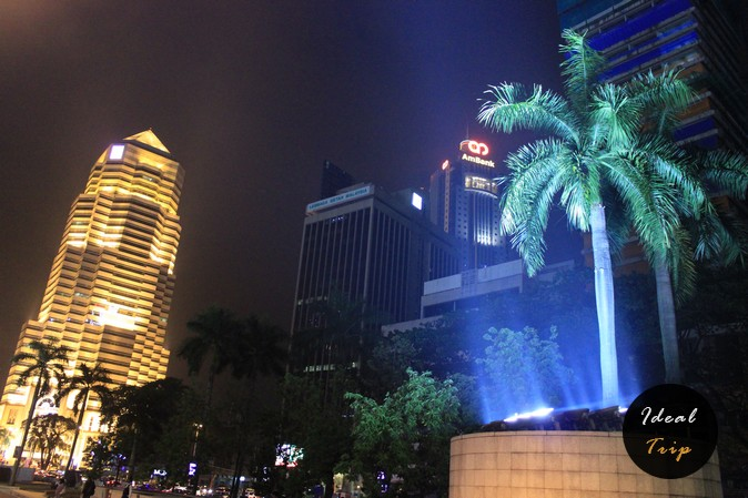 Вечерний город Куала Лумпур