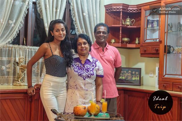 Семья мисс Шри Ланки