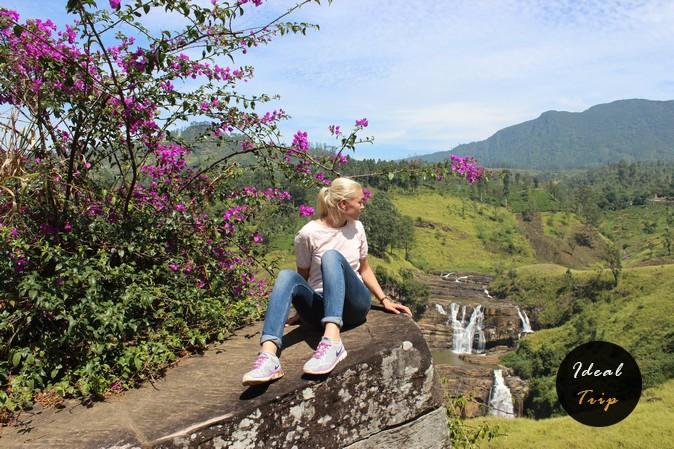 Кристина Эндлесс возле водопада Claire`s Fall