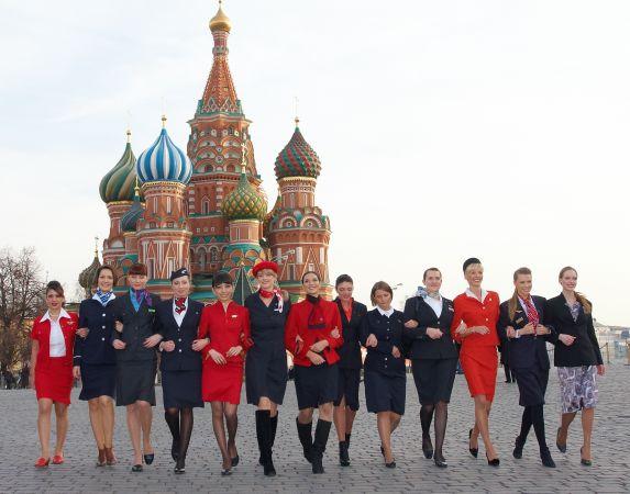 Стюардессы на Красной площади