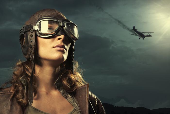 Девушка-летчик