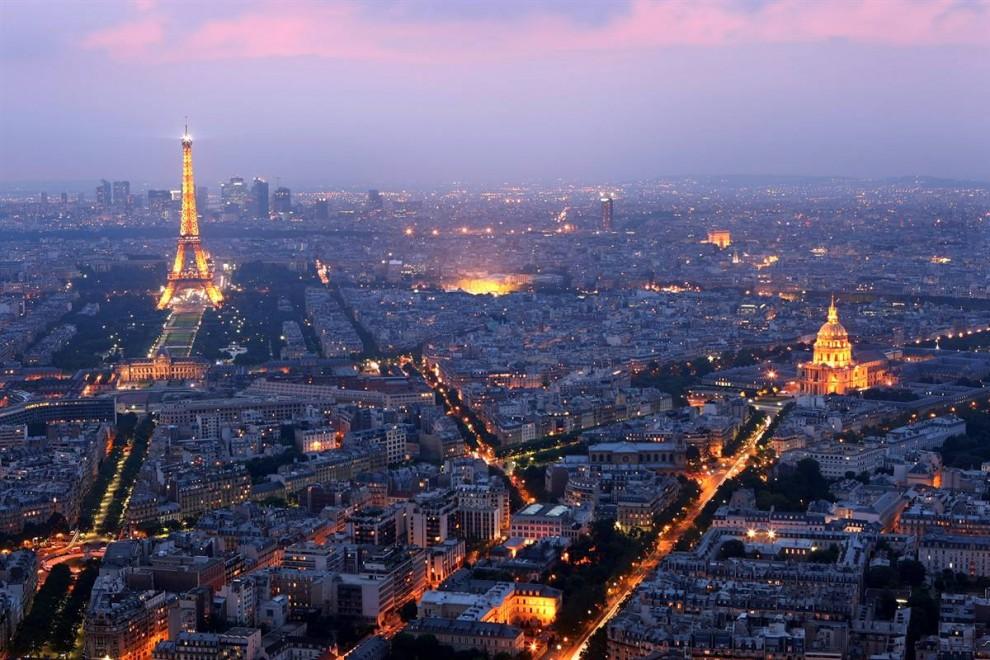 Париж с высотки здания Монпарнас