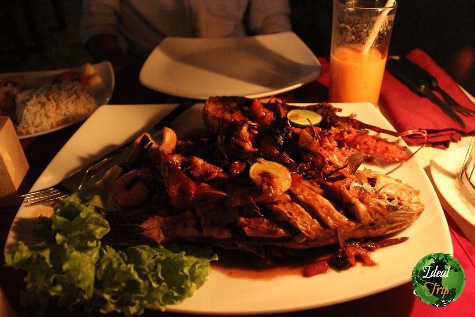 Рыба, приготовленные на гриле