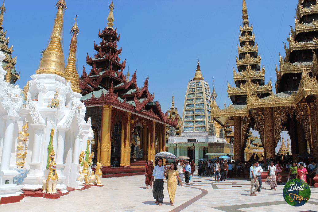 Пагода Шведагон в Мьянме