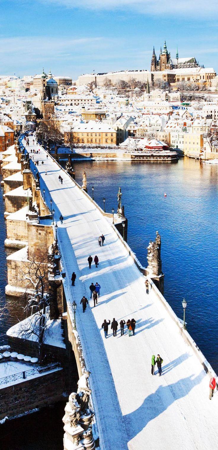 Pимняя Прага