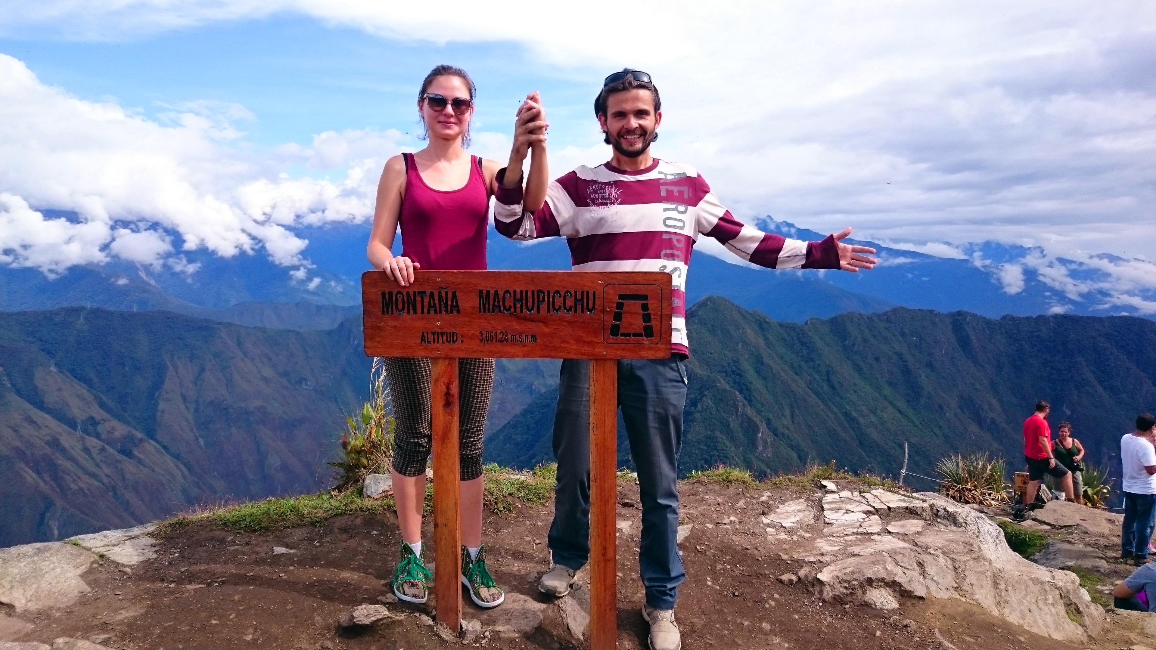 Лена и Никита на Мачу Пикчу