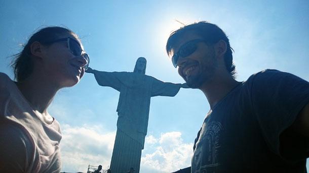 Лена и Никита в Бразилии