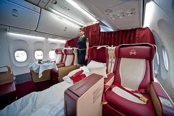 Премиум салон в самолете Трансаэро