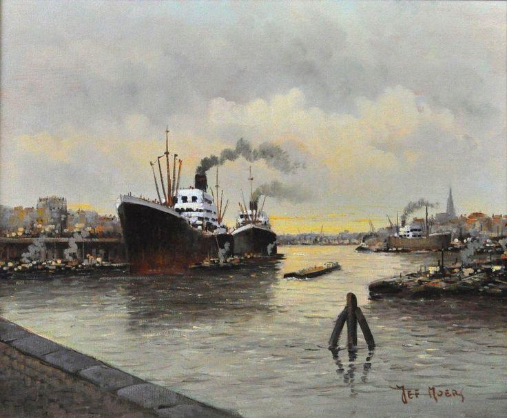 Исторический порт в Антверпене
