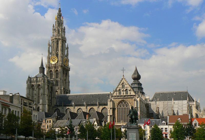 Кафедральный собор в городе Антверпен