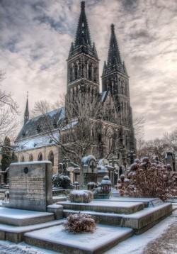 Замок Вышеград зимой