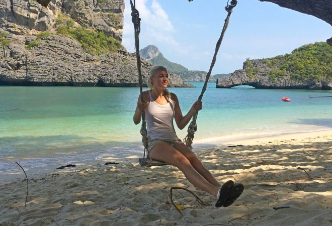 Кристина Эндлесс на острове Ко Сам Сао