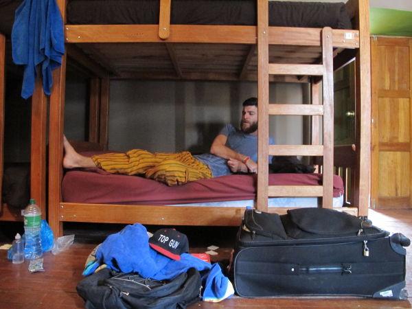 Путешественник в хостеле