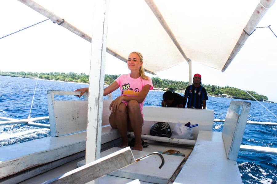 я на частной лодке на Филиппинах