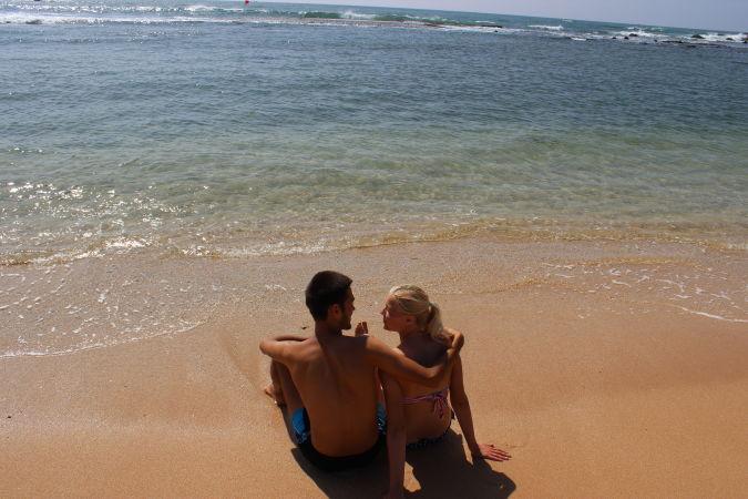 Кристина Эндлесс и Станислав Матвеев на пляже