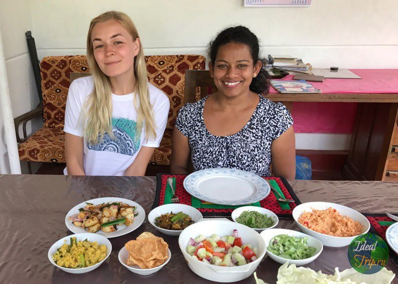 Кристина Эндлесс на кулинарном мастер классе с Руиной
