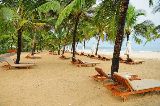 Пляж на южном Гоа
