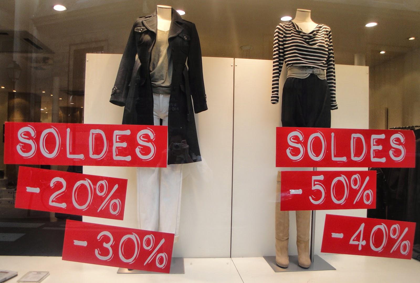 Скидки на одежду в Париже