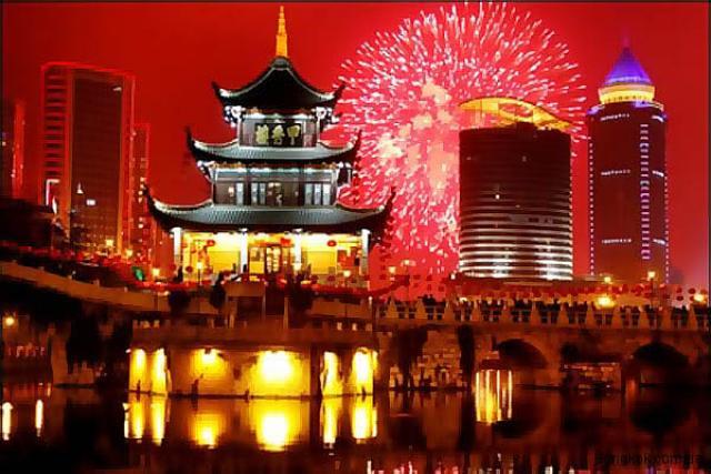 Салют на Новый год в Таиланде