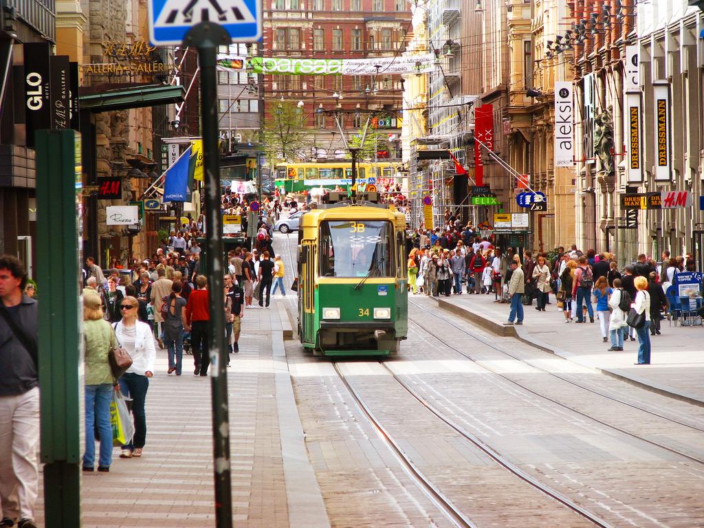 Городской трамвай в Хельсинки