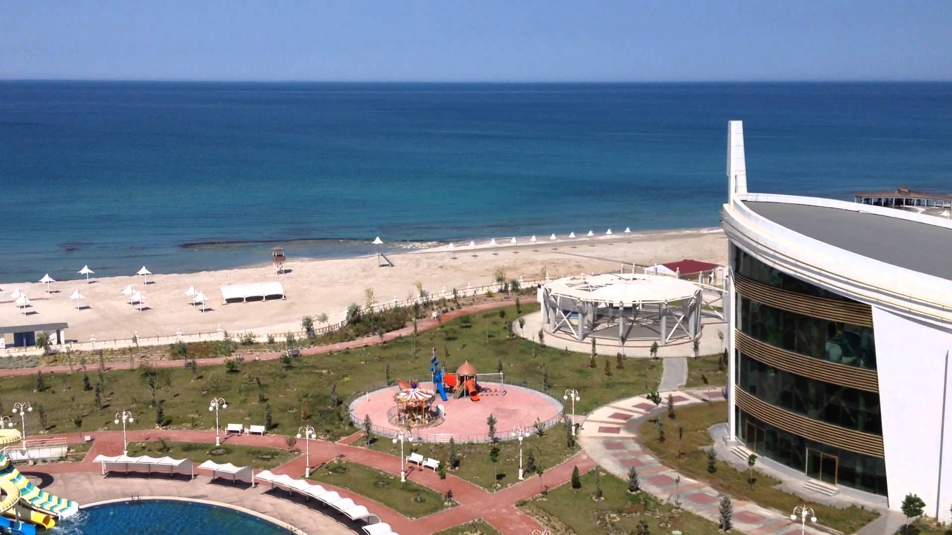 Каспийское море - вид из гостиницы