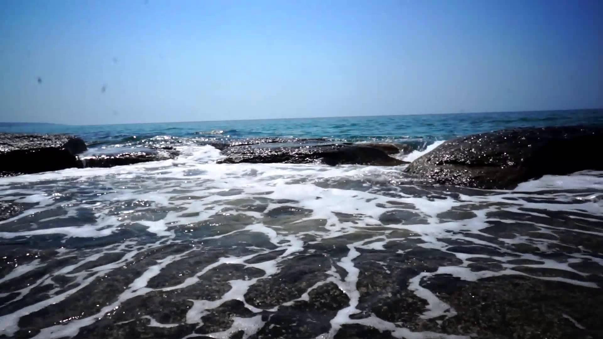 Каспийское море, пена