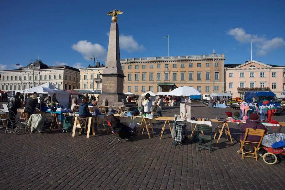 Торговая площадь в Хельсинки