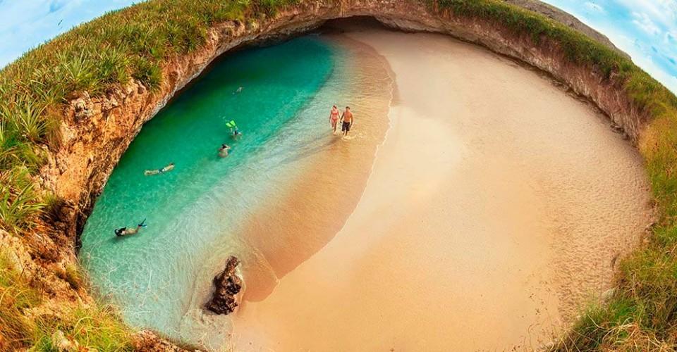 Температура воды на скрытом пляже